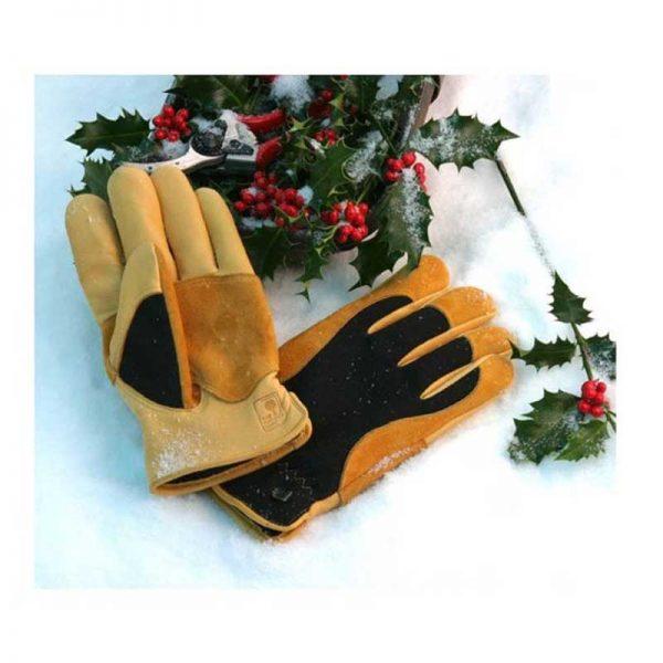Gold Leaf Ladies Winter Touch Garden Gloves