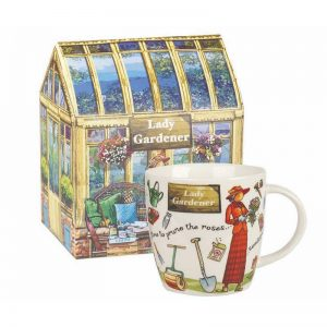 Lady Gardener Mug in Greenhouse Gift Box