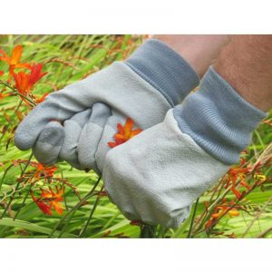RHS Tough Tips Gardening Gloves, Grey Size Large