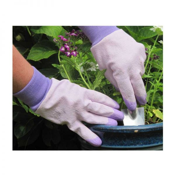 RHS Tough Tips Gardening Gloves, Lavender