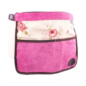Pink Floral Half Leather Garden Apron