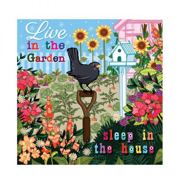Live in the Garden Greetings Card