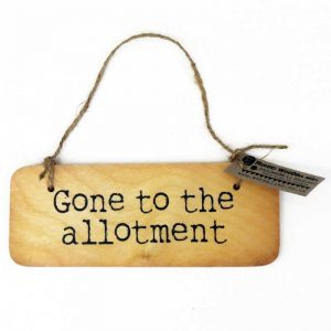 Allotment Wooden Sign