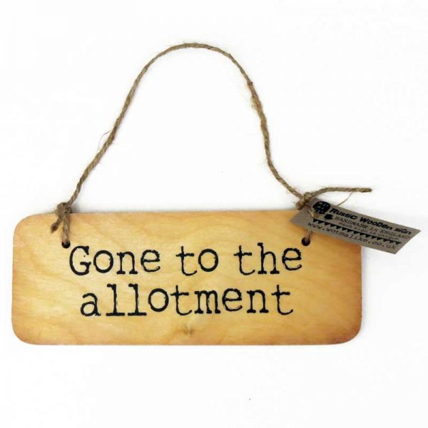 Allotment Wooden Sign