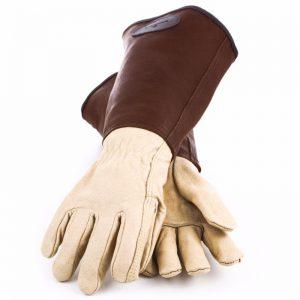 Mens Classic Leather Anti Bramble Gauntlets