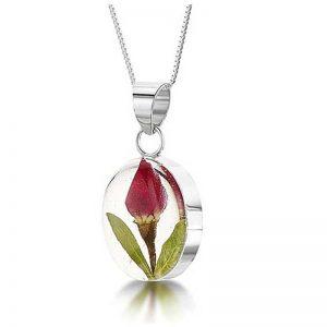 Rosebud Oval Necklace