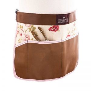 Bradleys Ann Floral Leather Waist Apron