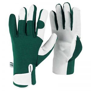 kew gardens collection leather palm gardening gloves