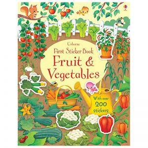 first sticker book fruit & vegetables
